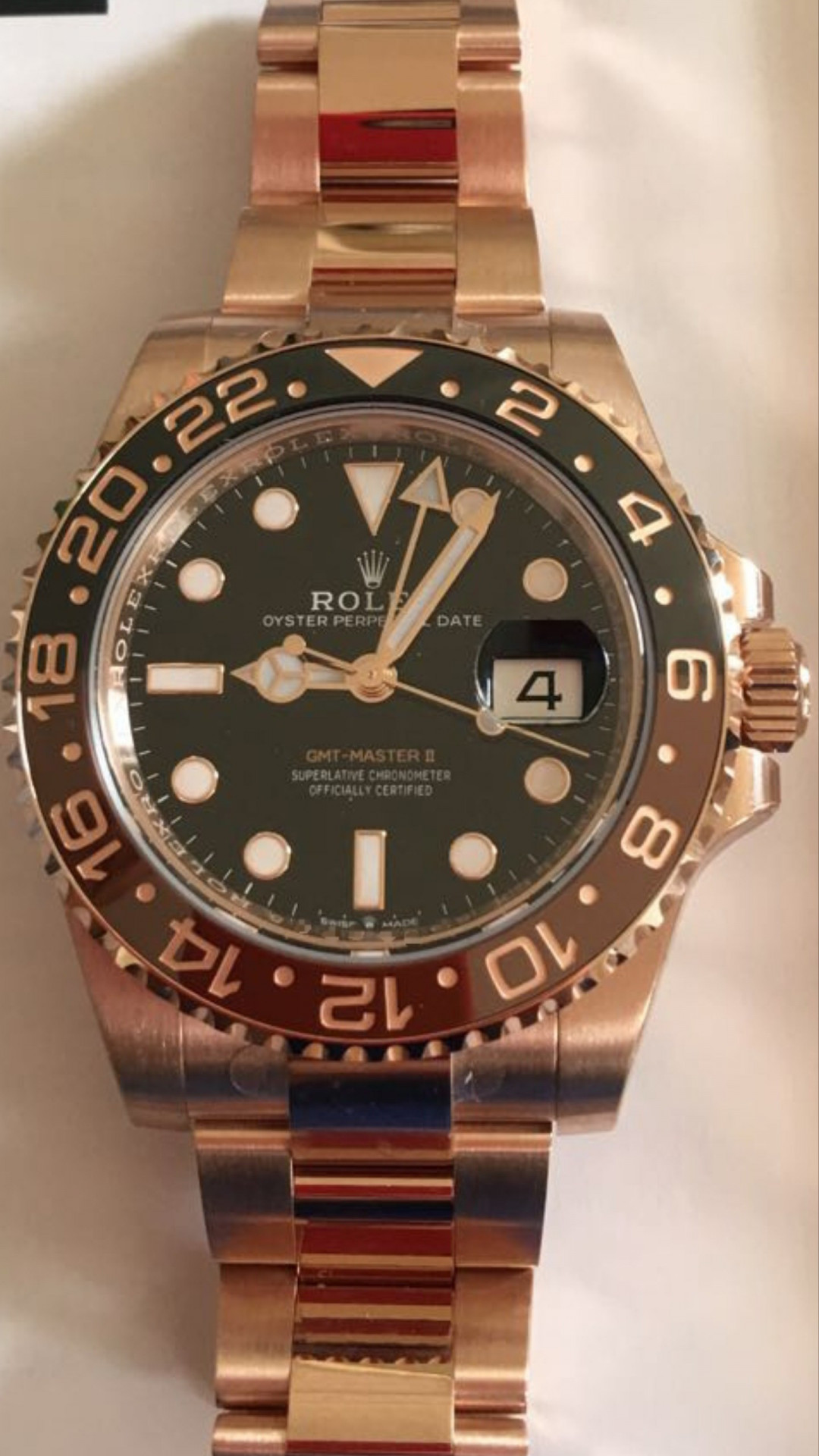 Gmt 2 full pink gold new 2018