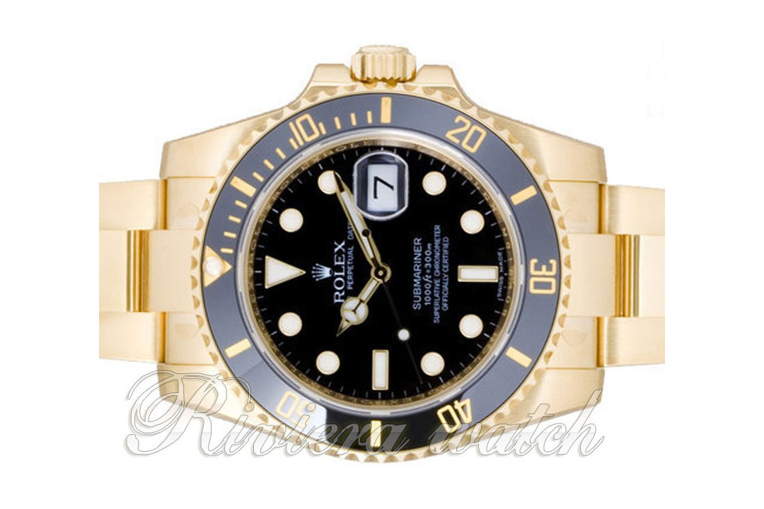 Submariner 116613 CADRAN NOIR full gold