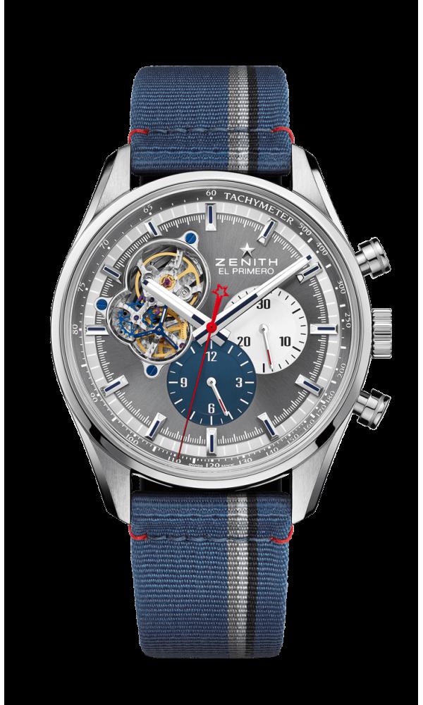 El Primero Chronomaster open silver/blue dial