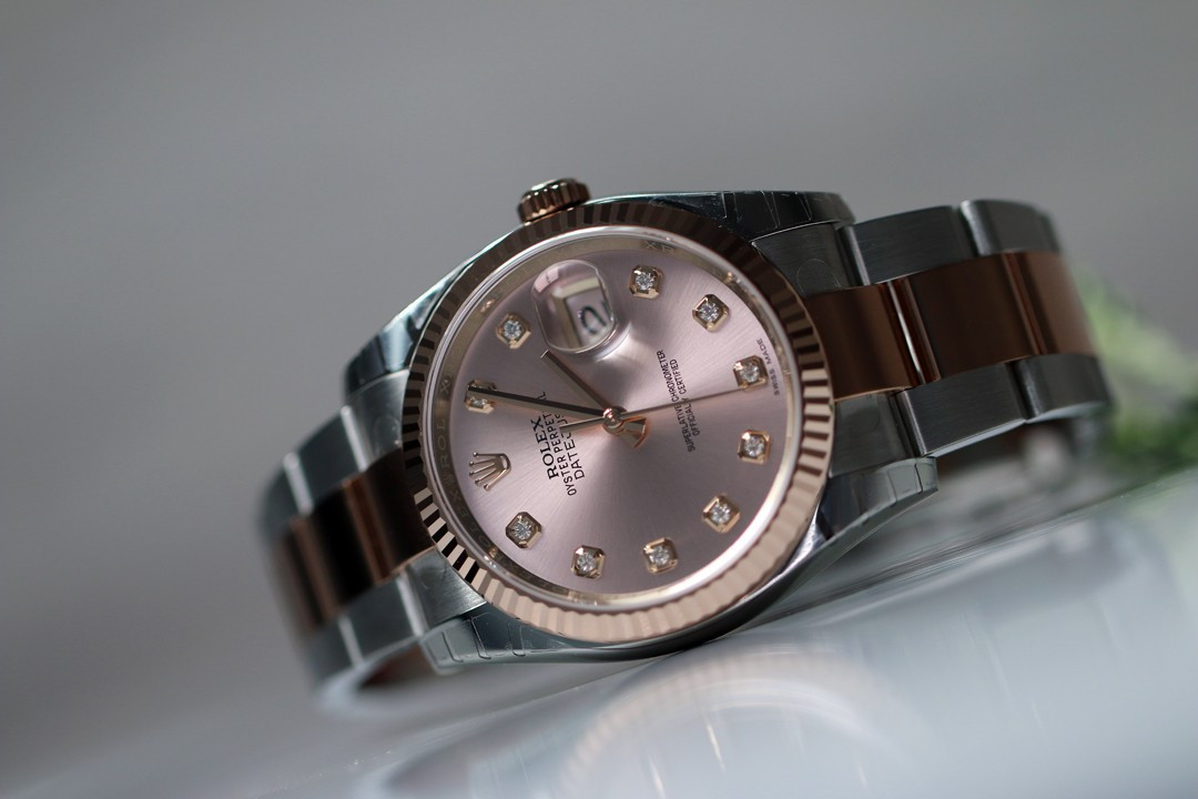 7aa01497fc7 OYSTER PERPETUAL DATEJUST index diamants - Rivierawatch